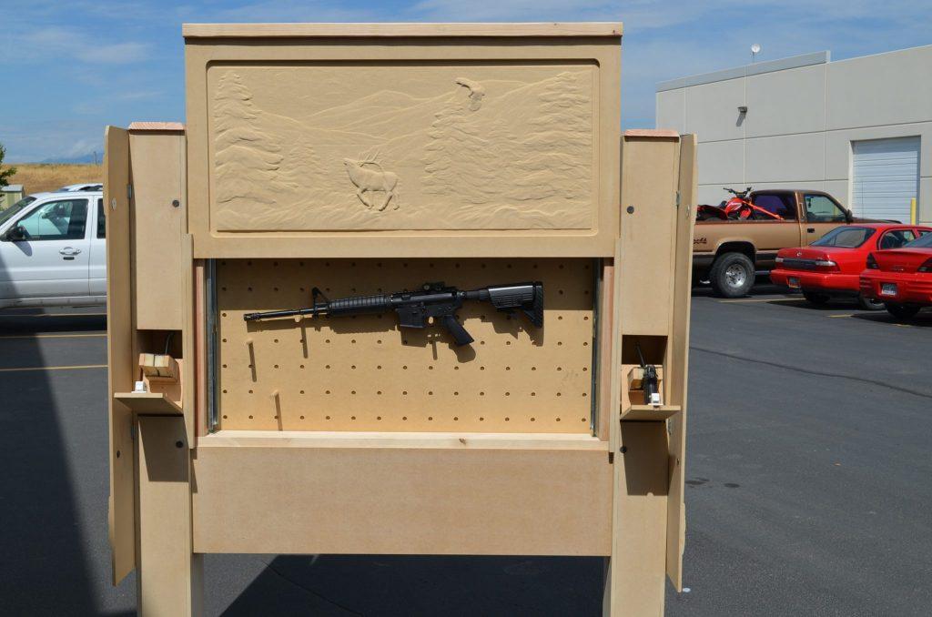 Gun Cabinet Headboard